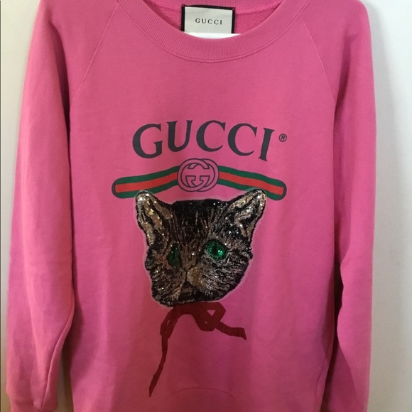 a5d4f8dfadf Gucci Sweaters - Gucci pink mystic cat sweater size S